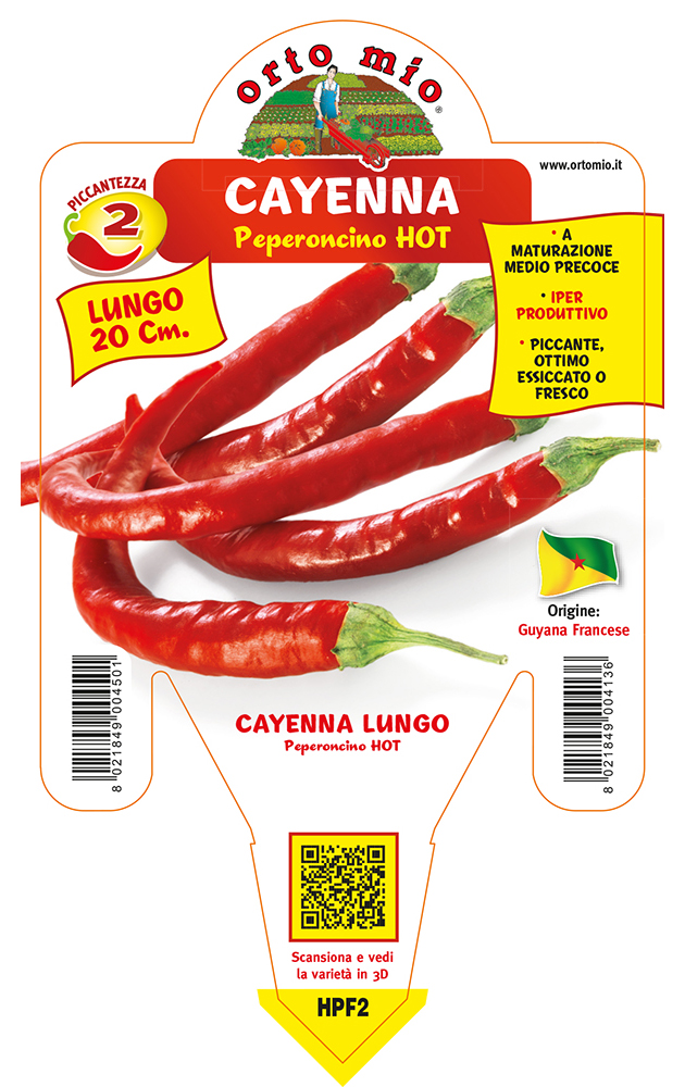 Peperoncino piccante HOT Cayenna lungo Romital F1