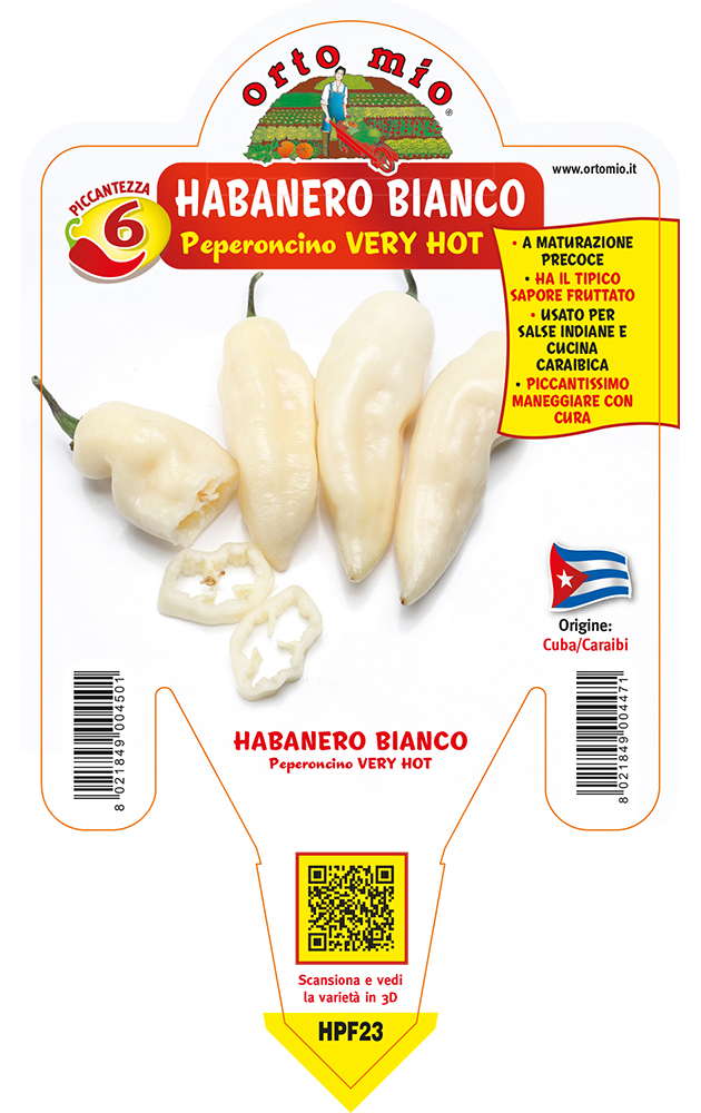 Peperoncino piccante VERY HOT Habanero bianco