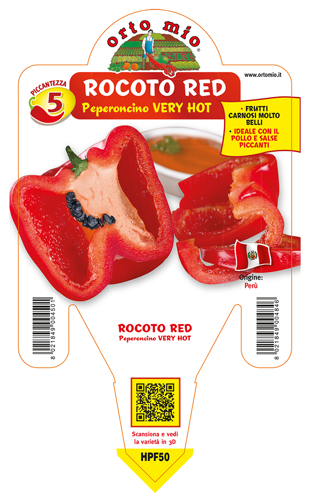 Peperoncino piccante HOT Rocoto Red