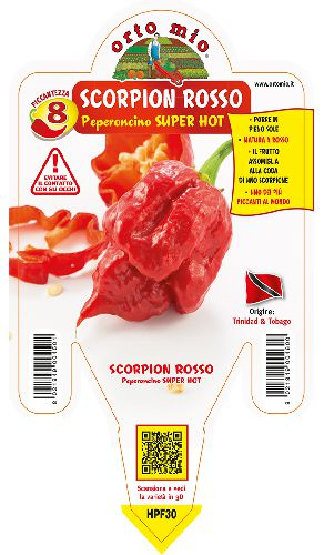 SUPER HOT Trinidad Scorpion rosso