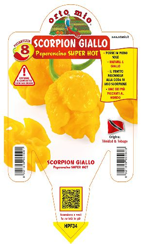 SUPER HOT Trinidad Scorpion giallo